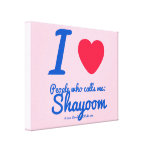 i [Love heart]  people who calls me:   shayoom i [Love heart]  people who calls me:   shayoom Stretched Canvas Canvas Prints