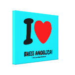 i [Love heart]  bhess angelica! i [Love heart]  bhess angelica! Stretched Canvas Canvas Prints