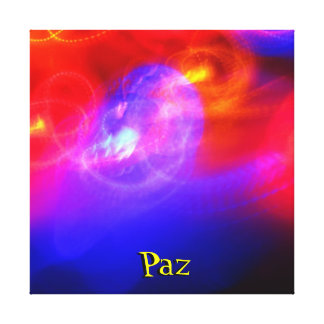 Stretched Canvas - Paz - Multicolor
