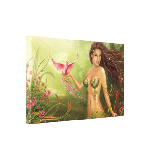 """Stretched Canvas Print """"Bird of Paradise """""""