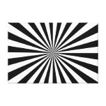 Stretched Canvas Print Black & White