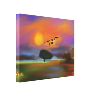 Stretched Canvas Print,imaginary landscape