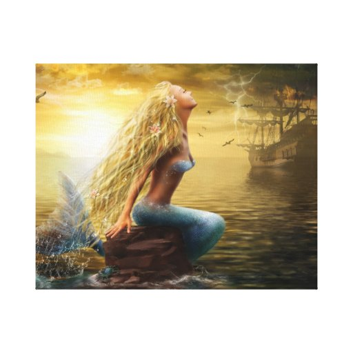 Stretched Canvas Print Mermaid (2)