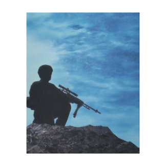 Stretched Canvas Print of Infantry Soldier