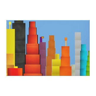 Stretched Canvas Print: The City