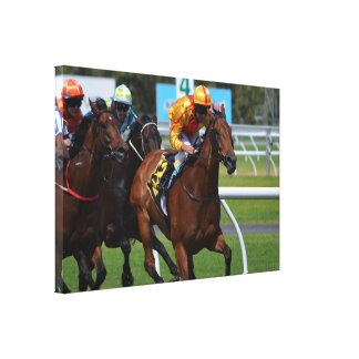 Stretched Canvas Print with Horse Race