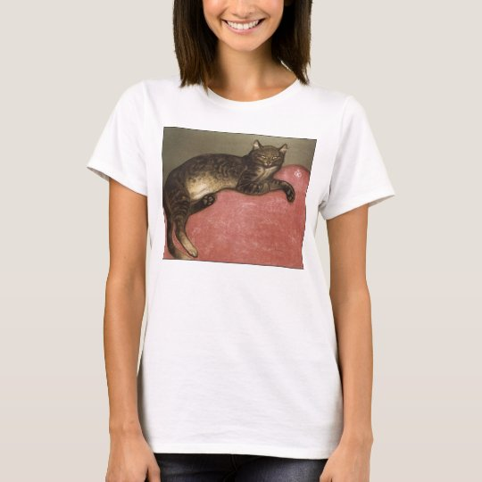 Stretched Cat on Sofa - by Theophile Steinlen T-Shirt
