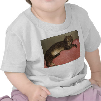 Stretched Cat on Sofa - by Theophile Steinlen Tee Shirt
