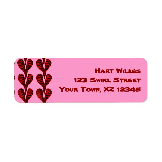 Stretched Hearts Label