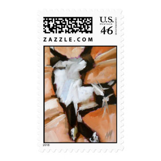 stretched out cat stamp