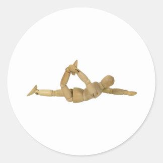 Stretching112809 copy classic round sticker
