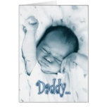 Stretching Baby Boy - Father's Day from Son Greeting Card