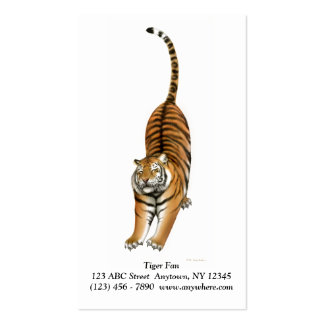 Stretching Bengal Tiger Business Card