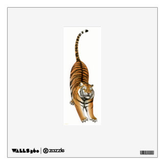 Stretching Bengal Tiger Wall Decal