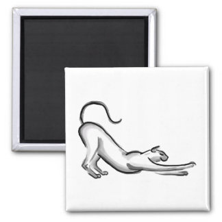 Stretching Cat Brush Painting Magnet