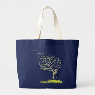 Stretching My Limbs Large Tote Bag