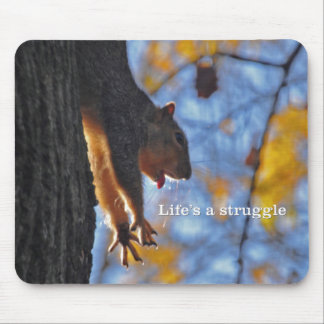 Stretching Squirrel 2 Mouse Pad