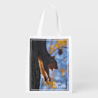 Stretching Squirrel Reusable Grocery Bag