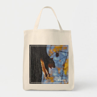 Stretching Squirrel Tote Bag