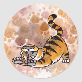 Stretching Tiger Stickers