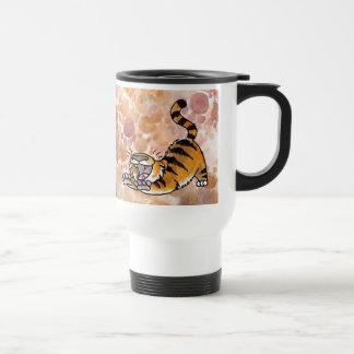Stretching Tiger Travel Mug