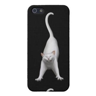 Stretching White Cat iPhone Case