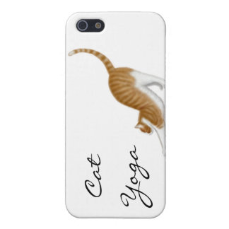 Stretching Yoga Cat Case For iPhone SE/5/5s