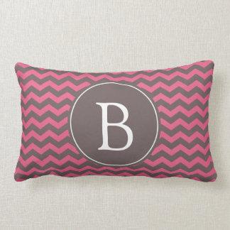 Stri rosado y marrón elegante, de moda del zigzag almohadas