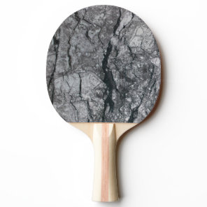 striate variegated streaked ebony ivory marble sto Ping-Pong paddle