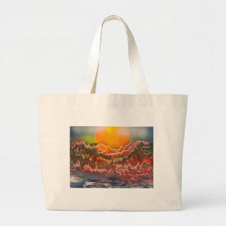 Striated Landscape Large Tote Bag