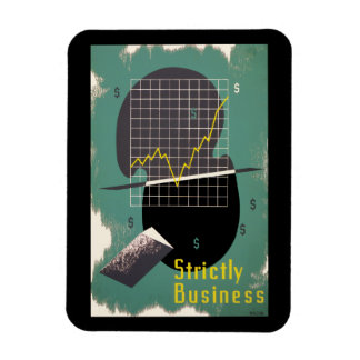 Strictly Business Rectangular Photo Magnet