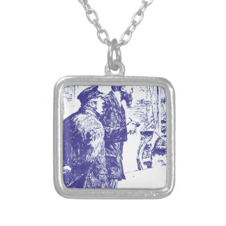 Strictly Business Square Pendant Necklace