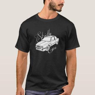 Strictly Euro BMW E30 BLACK W/ White car. T-Shirt