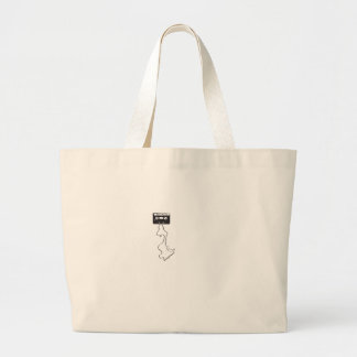 Strictly old school! large tote bag