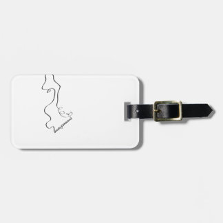 Strictly old school! luggage tag