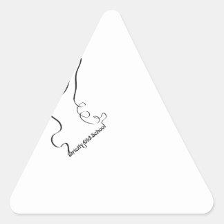 Strictly old school! pegatina triangular