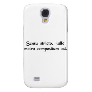 Strictly speaking, it doesn't rhyme. samsung galaxy s4 cover