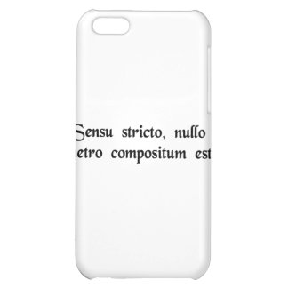 Strictly speaking, it doesn't rhyme. iPhone 5C cover