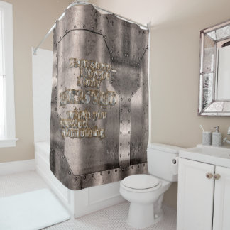 STRICTLY TYPOGRAPHY 1 SHOWER CURTAIN