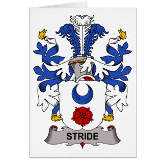Stride Family Crest Greeting Card