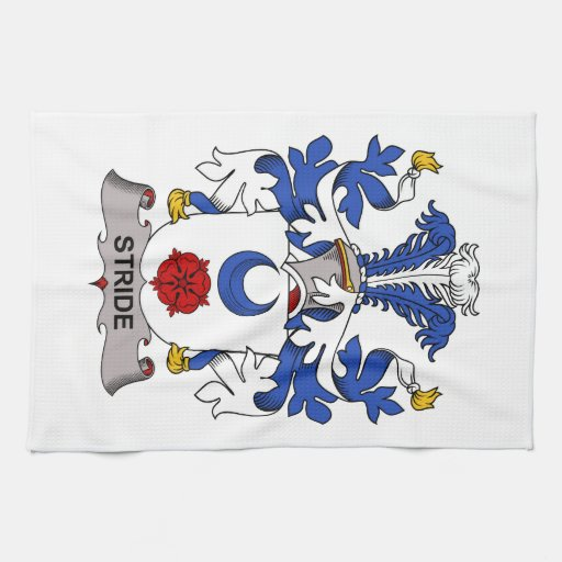 Stride Family Crest Hand Towel