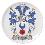 Stride Family Crest Plates