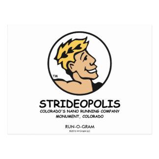 "Strideopolis / ""Strider Character"" Run-O-Gram Postcard"