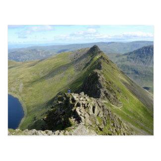 Striding Edge - English Lake District Postcard