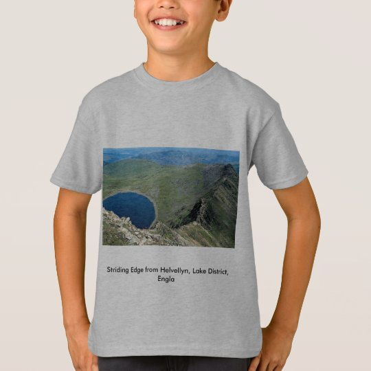 Striding Edge from Helvellyn, Lake District, Engla T-Shirt