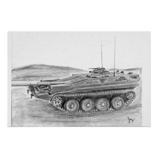 Stridsvagn 103 Tank Poster