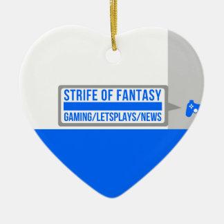 Strife full logo ceramic ornament