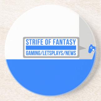 Strife full logo coaster