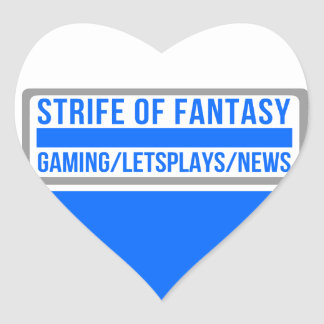 Strife full logo heart sticker