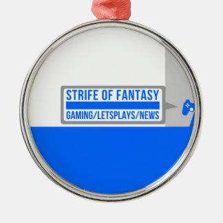 Strife full logo metal ornament